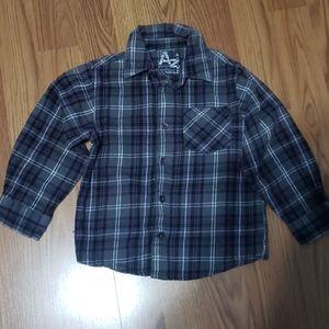 Boys 4T Arizona button down Flannel shirt